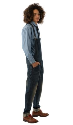 USKEES TOBY Slim Fit Men's Dungarees - Dark Wash. #Uskees #overalls #dungareesformen #LoveUS