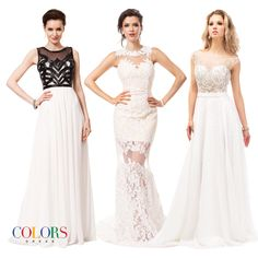 Wonderful Whites! COLORS DRESS #prom #promshopping #fashion #gowns #sexy #redcarpet