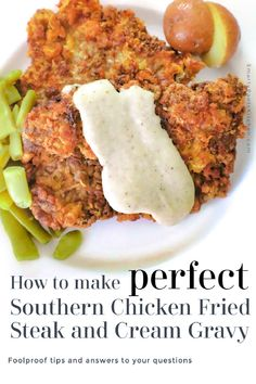 Learn how to make Southern Chicken Fried Steak & Cream Gravy! Foolproof recipe with tried and true cooking tips! Steak Recipes, Chicken Recipes, Cooking Recipes, Cooking Tips, Chicken Fried Steak Gravy, Country Fried Steak Recipe, Southern Chicken, Southern Dinner, Perfect Chicken