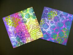 Can't put my Gelli Plate down; so additive; I'm starting to get the hang of things...