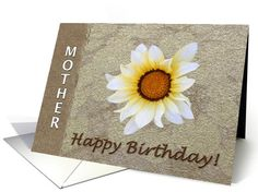 Happy Birthday Mom Floral Unconditional Love Greeting Card