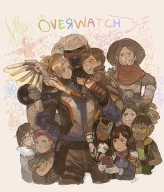 Blizzard,Blizzard Entertainment,фэндомы,Overwatch,Soldier 76,Mercy (Overwatch),Tracer,Mei (Overwatch),Symmetra,McCree,Lucio,D.Va,Winston (Overwatch),Zarya,Overwatch art,hiero,Hanzo