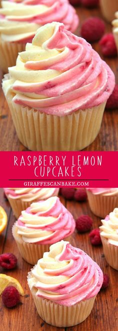 Are you looking for an easy, delicious recipe cupcakes? These Raspberry Lemon cupcakes are moist and full of delicious lemon flavor, with a lemon raspberry swirl buttercream. #food #dessert