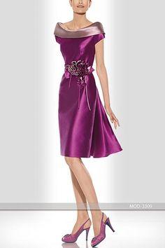 Short godmother dress by Teresa Ripoll model 3309 More onds]. Elegant Dresses, Pretty Dresses, Beautiful Dresses, Dress Outfits, Fashion Dresses, Dress Up, Dress Long, Short Dresses, Prom Dresses
