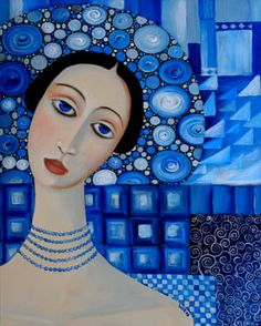 """A Woman in Blue   """"The little windflower, whose just opened eye is blue as the spring heaven it gazes at.""""    ~ William C. Bryant"""