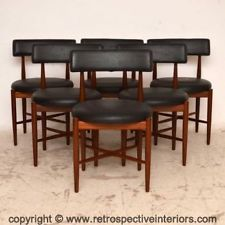 SET OF 6 TEAK RETRO DINING CHAIRS BY G- PLAN VINTAGE 1960's