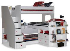 23-777 Trifecta Triple Bunk Bed with 5-Stairs $2,195.60