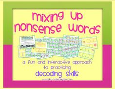 Simply Centers: Nonsense Words