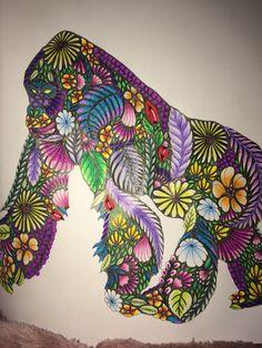 Completed Gorilla In Millie Marota Animal Kingdom Colouring Milliemarotta Animalkingdom