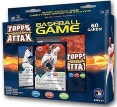 2011 Topps Attax Baseball Starter Box 60 Cards+Playmat by Topps. $6.00. New in Box. 60 Cards plus Deluxe Player Matt! Awesome gift. Fun game for all ages! Have booster packs to sell as well.