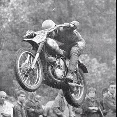 Vlastimil Valek on the 263cc CZ in the 1963 Czech 500 motocross GP