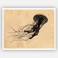 Jellyfish print by Katherine Ramos
