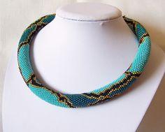 Collana di fascino serpente Bead Crochet collana colori