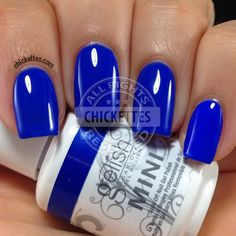 Chickettes.com Gelish Mali-Blue Me Away from the Gelish Colors of Paradise Collection - FInally a true royal blue.