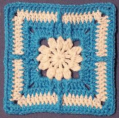 Clusteray Square Motif By JLyn Spencer - Free Crochet Pattern - (ravelry)