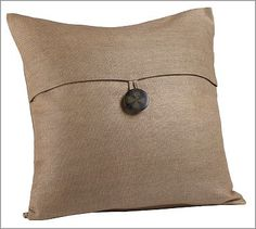 """Textured Pillow Cover, 18"""", Tumbleweed #potterybarn"""