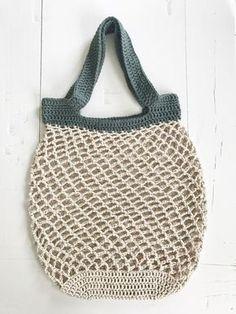 Netop – hæklet net – FiftyFabulous - Best Home Idea Diy Crochet And Knitting, Crochet Amigurumi Free Patterns, Crochet Food, Love Crochet, Knit Basket, Diy Tote Bag, Crochet Stars, Net Bag, Crochet For Beginners
