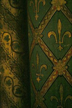 Photograph from the Sainte-Chapelle, Paris From: This Ivy House, please visit Sainte Chapelle Paris, Saint Chapelle, Architecture Unique, Medieval, Ivy House, World Of Color, Rustic Elegance, Celestial, Shades Of Green