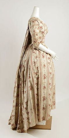Dress Date: late 18th century Culture: French Medium: cotton Accession Number: 37.126.2a, b