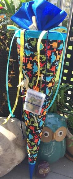 Dinosaurier - Schultüte/ Zuckertüte von XBergDesign2 auf DaWanda.com