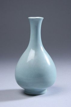 CHINESE MONOCHROME BLUE PORCELAIN VASE. - 5 1/4 in. high.
