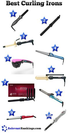 The top 10 best curling irons as rated by relevantrankings.com  Read reviews on each model and find the lowest price at http://www.relevantrankings.com/top-10-best-curling-irons/