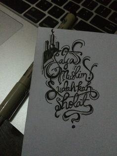 Sudahkah sholat ? Hand lettering