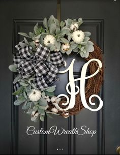 Fall Wreaths, Buffalo Fall Pumpkin Wreath For Front Door, Wreaths For Fall, Farmhouse Fall Wreath, Fall Porch Decoration Holiday Door Wreaths, Autumn Wreaths For Front Door, Farmhouse Fall Wreath, Farmhouse Front, Red Berry Wreath, White Wreath, Diy Wreath, Wreath Fall, Pumpkin Wreath