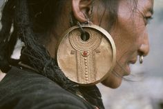 """EL HIEROGLYPH """"Details of the earring worn traditionally bye the tamang women 