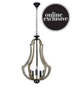 Beacon Lighting - Chambord traditional 5 light lantern in walnut with black highlights