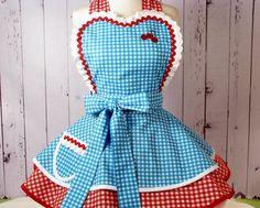 Kansas Farm Girl Cherry Pie Apron -- Made to Order, via Etsy.