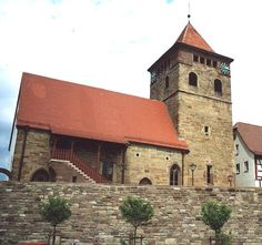 Ötisheim Church  Where Johann and Ursula Ruop Broyles worshipped - Great, great, great, (and great some more) grandparents
