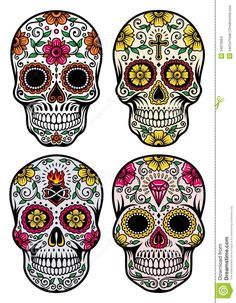 Day Of The Dead Skull Vector Set - Download From Over 27 Million High Quality Stock Photos, Images, Vectors. Sign up for FREE today. Image: 34870664