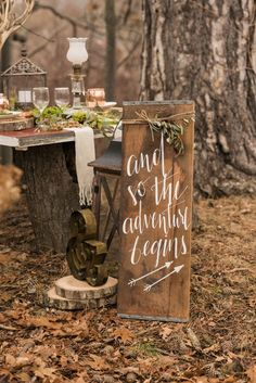 Quotes About Wedding : Rustic woodland outdoor fairytale wedding