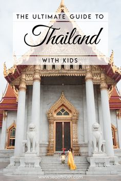 Traveling to Thailand with kids?  Must read to everything you need to know about going to Thailand with a toddler and young kids.  What kinds of foods are kid friendly in Thailand and where to buy essentials for your kids in Thailand.  How to get around Thailand and Bangkok as a family.  And how to avoid common scams in Thailand.  And a list of fun things to do with kids in Bangkok!  Find it all here! #thailand #bangkok #travel #family