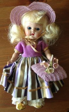 Vintage Rare Vogue Ginny Strung Doll complete beautiful sweet heart #DollswithClothingAccessories