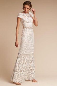 Ivory/champagne Peridot Gown | BHLDN
