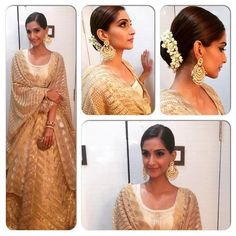 House of Kotwara sonam kapoor 2015 dress. Fashion. Bollywood. Saree. Style.