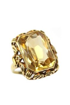 Golden Citrine, estate jewelry