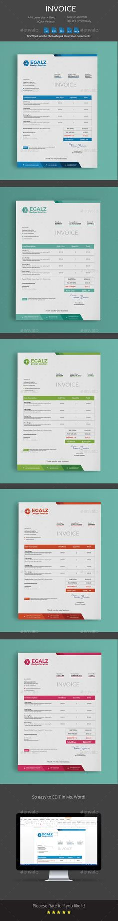 60 best Invoice Template Designs Download images on Pinterest     Invoice by Butterfly Graphic Invoice  Use this template for personal   company and business invoicing very quick and easy  This invoice template  is designed