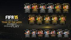 http://www.durmaplay.com/News/haftanin-takiminda-oyunculari-bekleyen-surprizler FIFA 15 her hafta FIFA Ultimate Team olarak uluslararası ve dünya çapındaki kulüp yarışmalarındaki en iyi futbolcuları FIFA 15 için topluyor En iyi futbolculardan oluşan bu harika koleksiyon FIFA Ultimate Team'de rakiplerine meydan okumaya hazır olarak bulunuyor