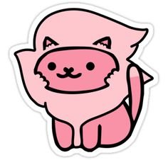 """""""Lion from Steven Universe as a Neko Atsume!"""" Stickers by jjdough 
