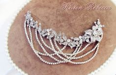 Bridal Gatsby Style Rhinestone Wedding Hair Piece Rhinestone Wedding Jewelry Hair Accessory Bridal Jewelry