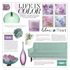 """""""Lilac and Mint"""" by tanjakr ❤ liked on Polyvore featuring interior, interiors, interior design, home, home decor, interior decorating, Kartell, Burberry, Jonathan Adler and McCoy Design"""