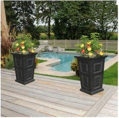 2 Self Watering Planter Box 24 Outdoor Garden