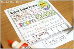 This Sight Word Super Stars NO PREP Packet is both EFFECTIVE and FUN for 1st Grade students as they learn to read and master sight words!