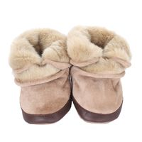 Cozy Ankle Baby Boots, Tan