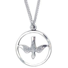 "Customer review: ""This necklace is the sweetest gift for a young lady on her Confirmation ... the open circle with the Holy Spirit is very petite."""