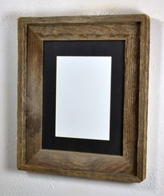 4870a172723 Rustic picture frame 5x7 black mat 20 mat colors available free shipping