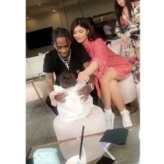 Stormi first Easter Kylie and Travis Mommy & Daddy